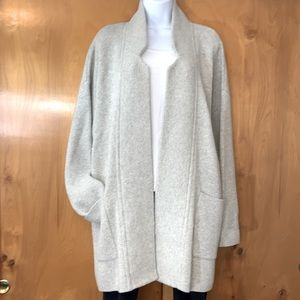 Madewell heavyweight long oatmeal open cardigan